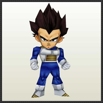 Vegeta Papercraft - vegeta papercraftsquare free papercraft