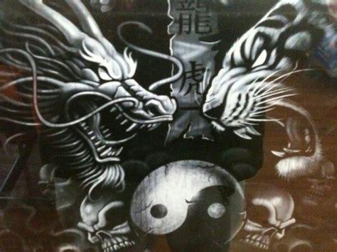 dragon and tiger meditation yin yang pinterest