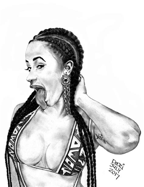 Cardi B Sketches by Deozi Deozi World