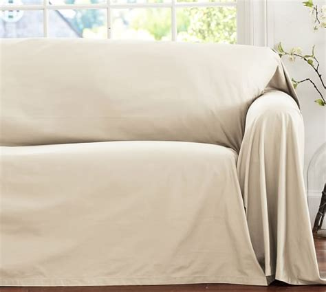 loose fitting sofa covers dropcloth loose fit slipcover twill pottery barn