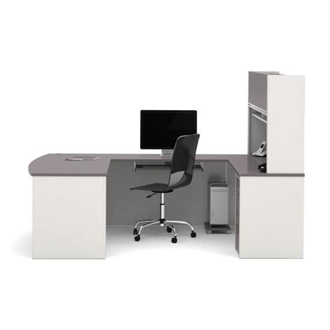Assembled Computer Desks by Bestar Connexion U Shaped Workstation With 1 Pedestal In