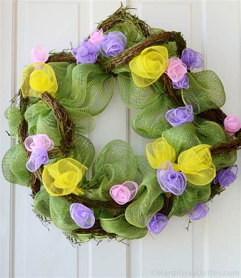 mesh wreath ideas ideas by mardi gras outlet wreath with deco