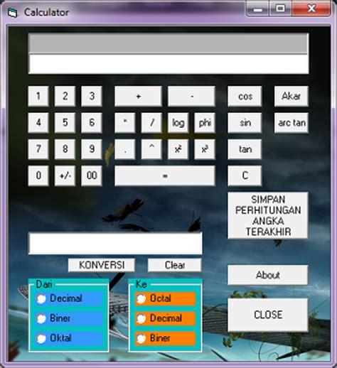 Coding Visual Basic Kalkulator   program kalkulator sederhana visual basic 6 0
