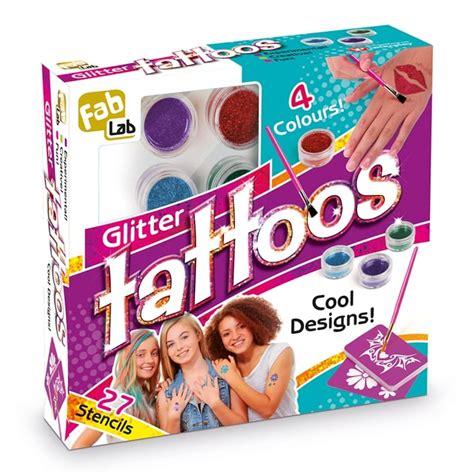 tattoo kit argos fablab glitter tattoo kit find me a gift