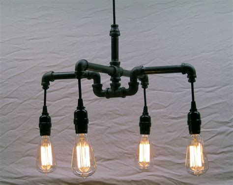Pipe Chandelier Industrial Chandeliers Montreal By Pipe Chandelier