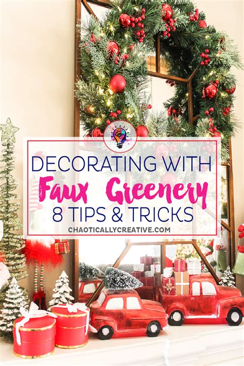 decorating with faux greenery home tour