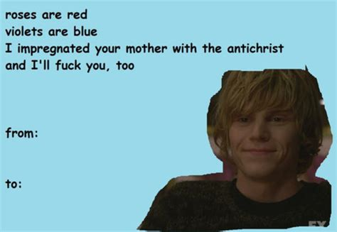 creepy valentines poems american horror story roses are