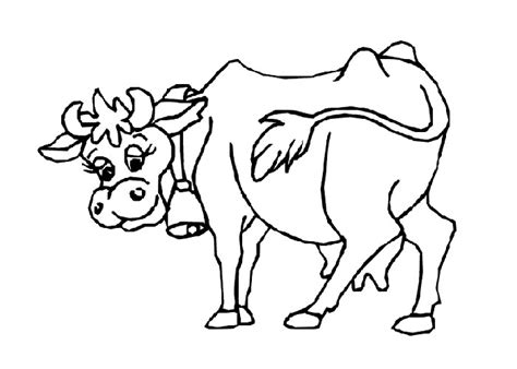 awesome cartoon cow coloring page gallery with cow