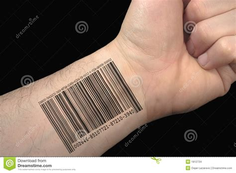 bar code tattoo stock images image 1812734
