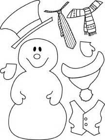 Snowman stencil printable snowman template