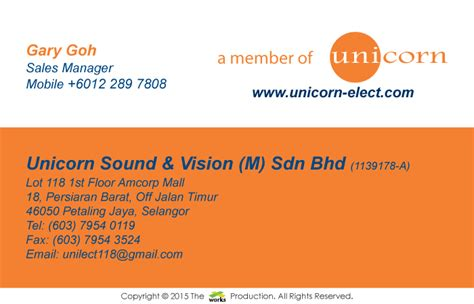 new year 2015 card malaysia xworks business card design unicorn sound vision malaysia