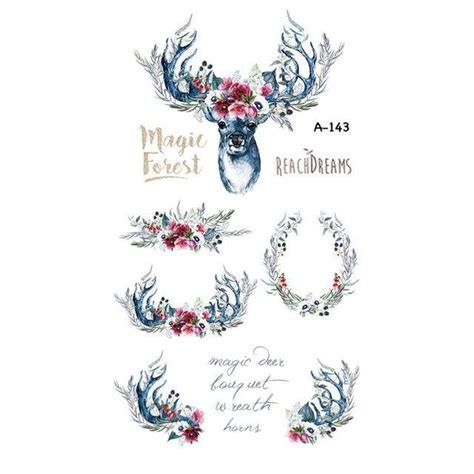 adult temporary tattoos wyuen designs deer temporary for