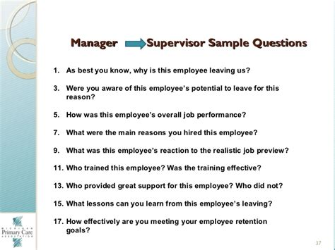 how to conduct provider stay interviews