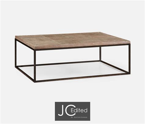 Iron Coffee Table Limed Oak Iron Coffee Table