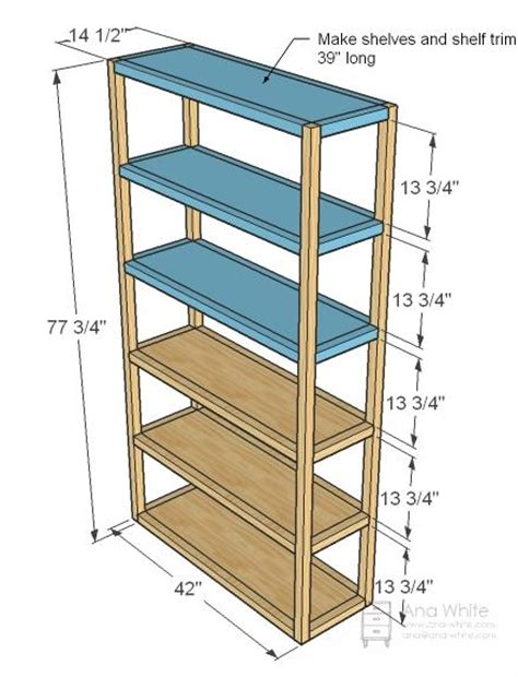 white build a parson s style bookshelf free and