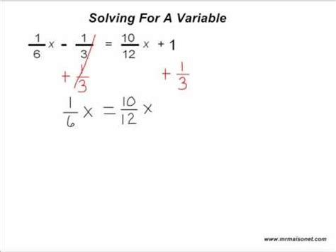 An For A by Algebra Solving An Unknown Variable