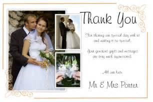 wedding thank you cards wording unique diy wedding thank you card ideas weddings by helen