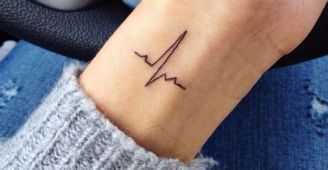 ekg tattoo on wrist best 25 ekg tattoo ideas on pinterest heartbeat tattoos