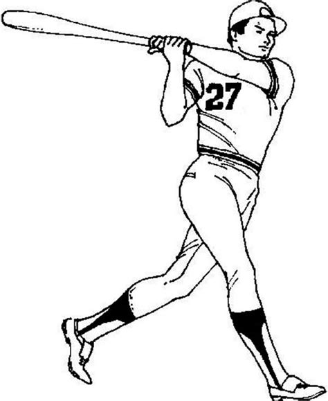 Baseball Player Coloring Page Baseball Player Coloring Pages
