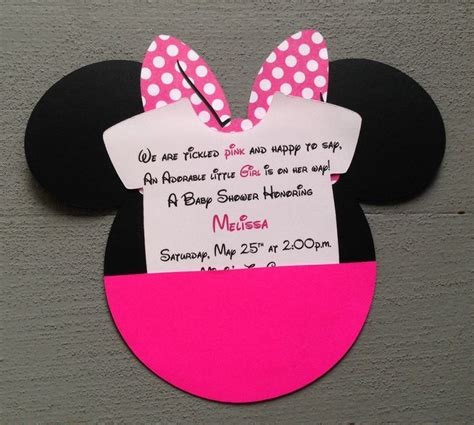 baby minnie mouse baby shower invitations dolanpedia