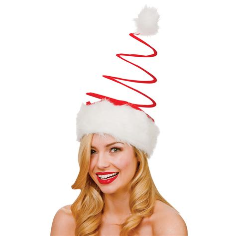 adults large red spiral santa hat christmas fancy dress