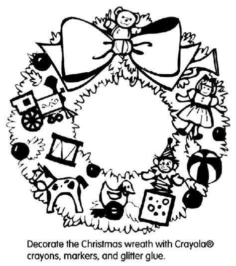 coloring pages of christmas reefs christmas wreath coloring page crayola com