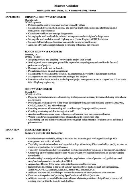 Highways Maintenance Engineer Sle Resume by Highways Maintenance Engineer Sle Resume Promissory Note Sle