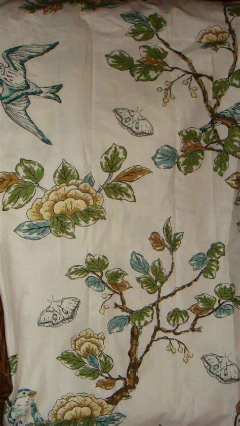threshold bird shower curtain threshold botanical blue bird floral shabby cottage shower