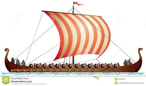 viking longboat graphic viking ship longship drakkar stock illustration image