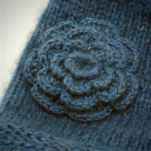 Free knitting patterns knitted flower pattern pictures