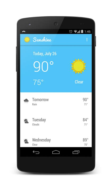 android github github tylermccraw android weather view a beautiful material design based 10 day weather