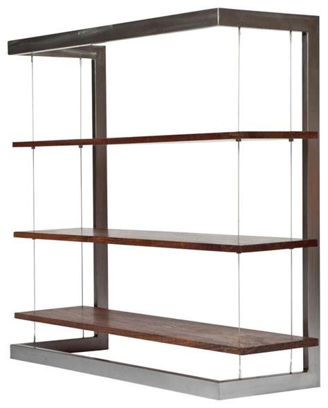 Large Black Bookshelf Suspended Bookshelf Large Black Walnut Modern