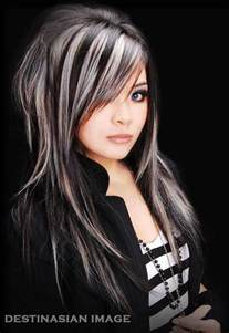 black and white hair color 14 wonderful hairstyles with highlights