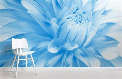 wallpaper flower murals pale blue flower wallpaper wall mural muralswallpaper co uk