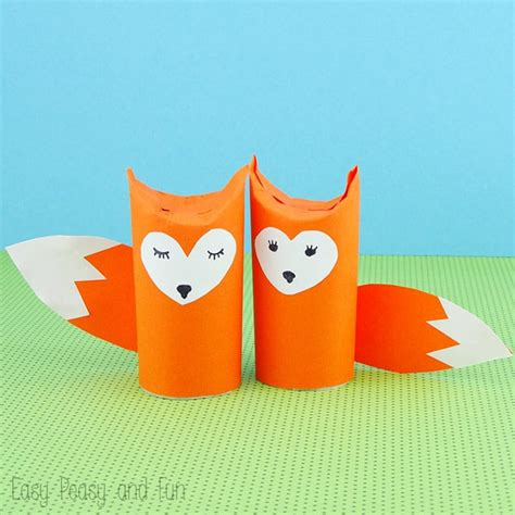 craft with tissue paper roll toilet paper roll fox craft easy peasy and