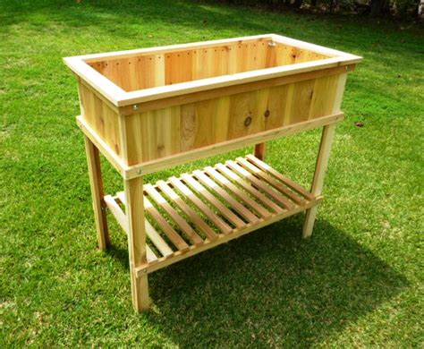 Raised Bed Planter Plans by Build A Cedar Raised Garden Bed Wood Plans With Photos