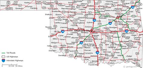 oklahoma texas map map of oklahoma cities oklahoma road map