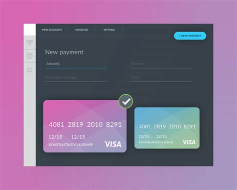 credit card update template payment form ui template free psd psd