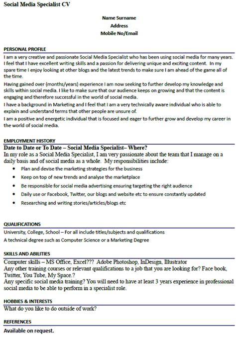 social media specialist cover letter post reply