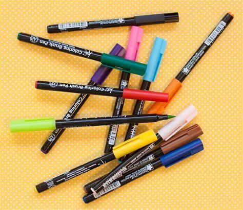 Koi Coloring Brush Pen 12 Color Set Colour Skin Tone review koi watercolor brush pens 12 color set the well