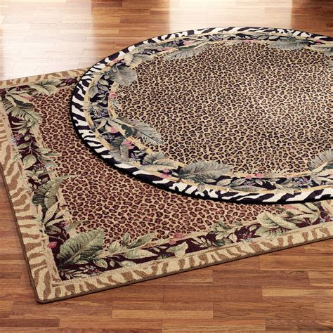 Area Rugs Animal Print Jungle Safari Animal Print Area Rugs