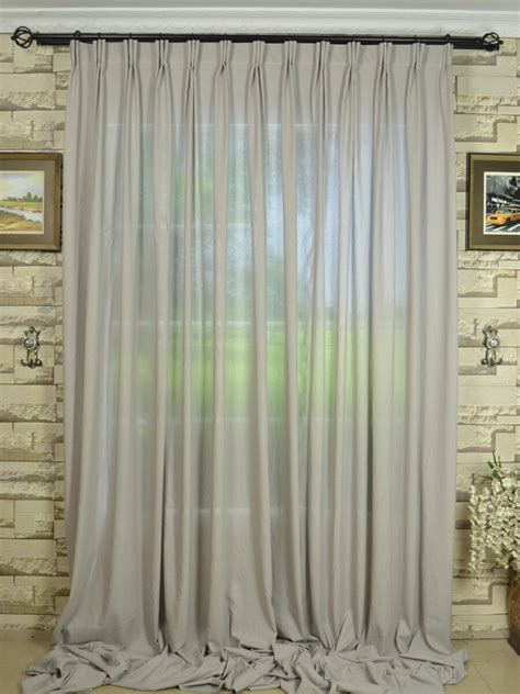 black linen drapes qyk246sba eos linen gray black solid versatile pleat sheer