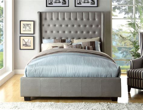 tufted bed frame queen queen size elegant mira silver button tufted bed frame