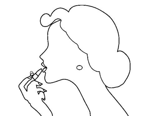 Dibujo De Pintar Los Labios Para Colorear Dibujos Net Coloring Book Cd L