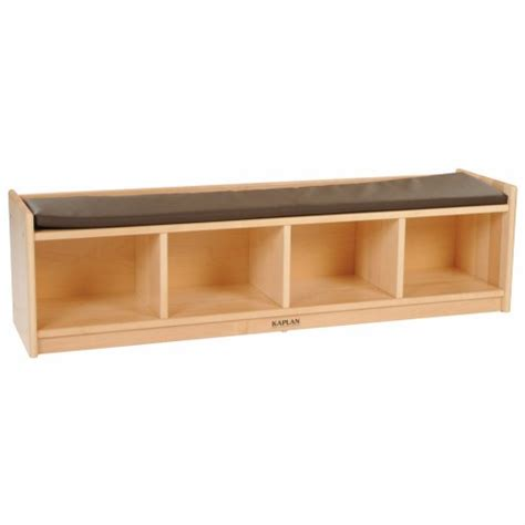 4 cubby storage bench premium solid maple 4 section bench cubby