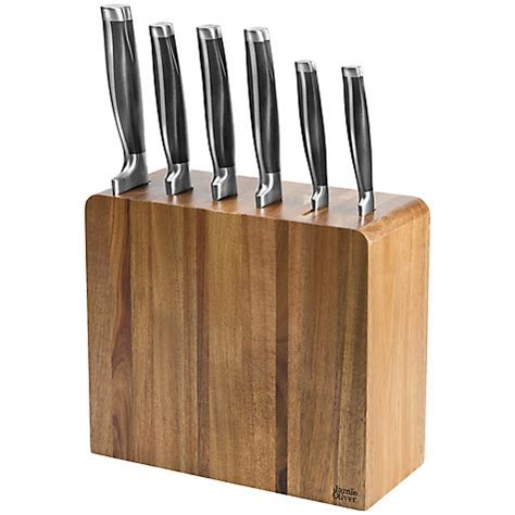 jamie oliver kitchen knives buy jamie oliver 6 piece filled acacia knife block john