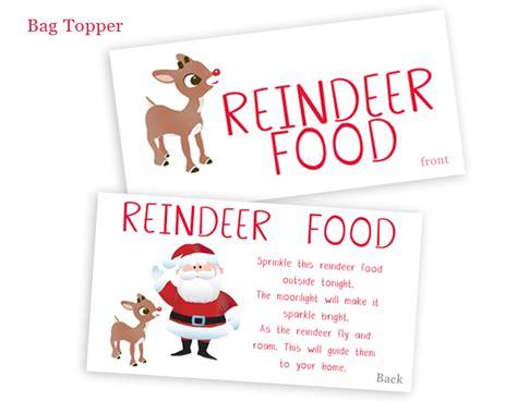 Free Printable Reindeer Food Bag Topper | search results for reindeer food free printable