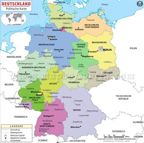 deutsche mappe deutschlandkarte karte und routenplaner aller bundesl 228 nder