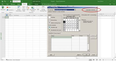 how to make a custom calendar how to delete a custom calendar in microsoft project
