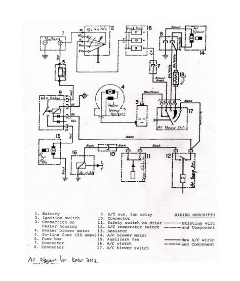 car air conditioning wiring diagram basic car free